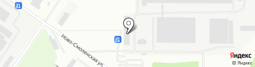 Рассвет, ЗАО на карте Смоленска