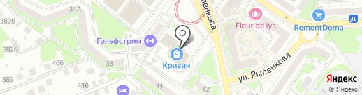 Магазин мужской одежды на карте Смоленска