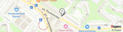Красный пищевик на карте Смоленска