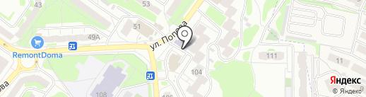 Участковый пункт полиции №8 в Промышленном районе на карте Смоленска