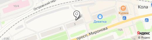 Магазин овощей и фруктов на карте Колы