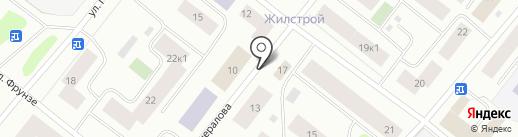 Домашний на карте Мурманска