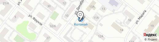 Котонай на карте Мурманска