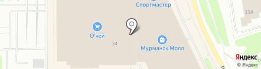 Ряженка на карте Мурманска