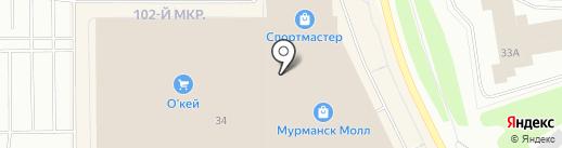 Машины Времени на карте Мурманска