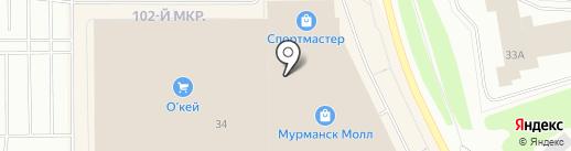 Мужской характер на карте Мурманска