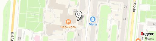 Магазин верхней одежды на карте Мурманска