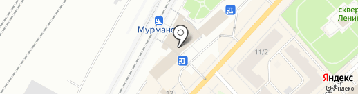 Киоск сувенирной продукции на карте Мурманска