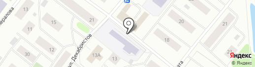 Амелия на карте Мурманска