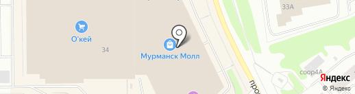 MALE на карте Мурманска