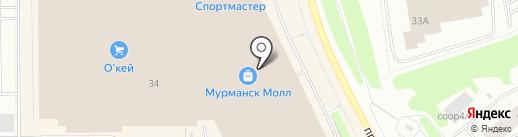 Буквоед на карте Мурманска
