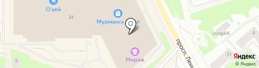 Страйкбольный тир на карте Мурманска