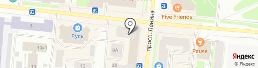Магазин по продаже дисков на карте Мурманска