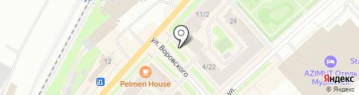 Магазин товаров для шитья на карте Мурманска