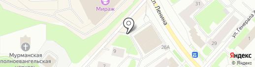 Магазин канцелярских товаров на карте Мурманска
