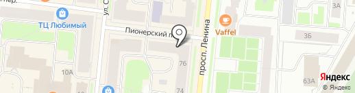 Хлоя на карте Мурманска