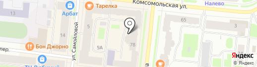 Стоматологическая поликлиника №1 на карте Мурманска