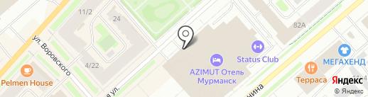 Петербургская недвижимость на карте Мурманска