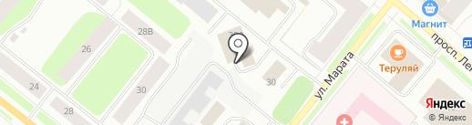 Магазин автозапчастей на карте Мурманска