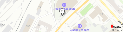 Рейндир на карте Мурманска
