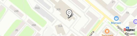 На Марата на карте Мурманска