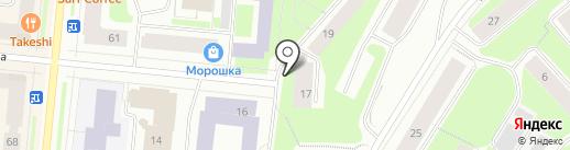 Аркадия на карте Мурманска