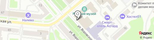 Мурманская областная филармония на карте Мурманска