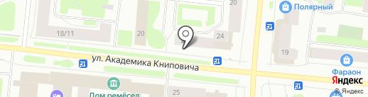 Софитель на карте Мурманска