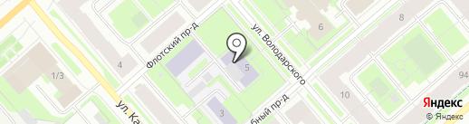 Мурманский педагогический колледж на карте Мурманска