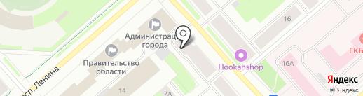 Аметист на карте Мурманска