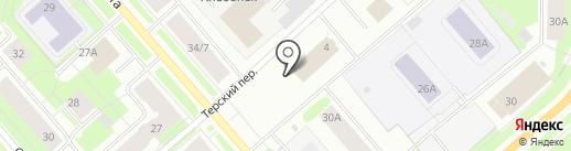 Принт на карте Мурманска