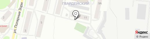 Северный колледж безопасности, НОУ на карте Мурманска