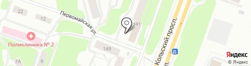 Контакт на карте Мурманска