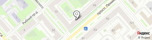 Брусника на карте Мурманска