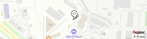 Колледж отраслевых технологий и делового администрирования на карте Мурманска