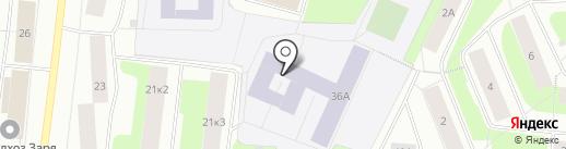 Средняя общеобразовательная школа №43 на карте Мурманска