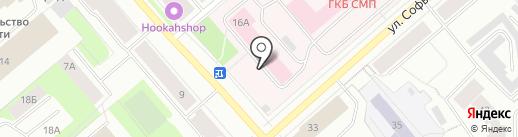 Родильный дом №1 на карте Мурманска