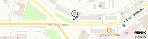 Магазин ивановского текстиля на карте Мурманска