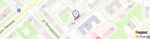 Салон малой оперативной полиграфии на карте Мурманска
