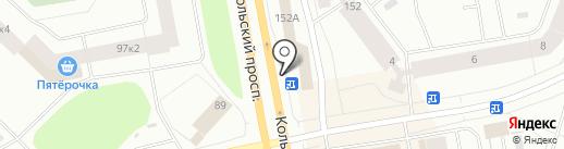 Мясной магазин на карте Мурманска