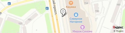 Северное Нагорное на карте Мурманска