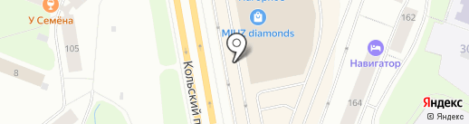 Милабель на карте Мурманска
