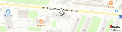 Русское Радио Мурманск, FM 105.5 на карте Мурманска