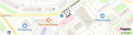 Магазин домашнего трикотажа на карте Мурманска