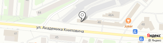 Плавучий док на карте Мурманска