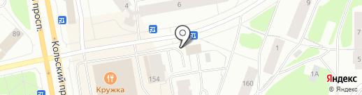 Пироговая на Беринга на карте Мурманска