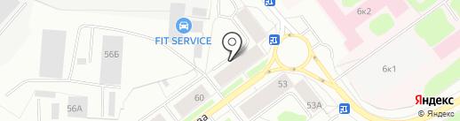 Адвокат Червяков А.Л. на карте Мурманска