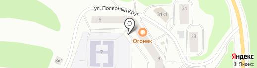Магазин продуктов из Белоруссии на карте Мурманска