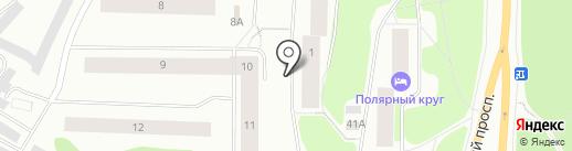 Уголовно-исполнительная инспекция на карте Мурманска