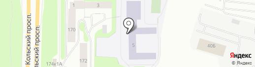 Средняя общеобразовательная школа №13 на карте Мурманска